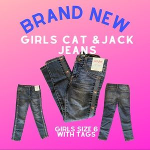 Girls Cat & Jack Jeans NEW with tags size 6
